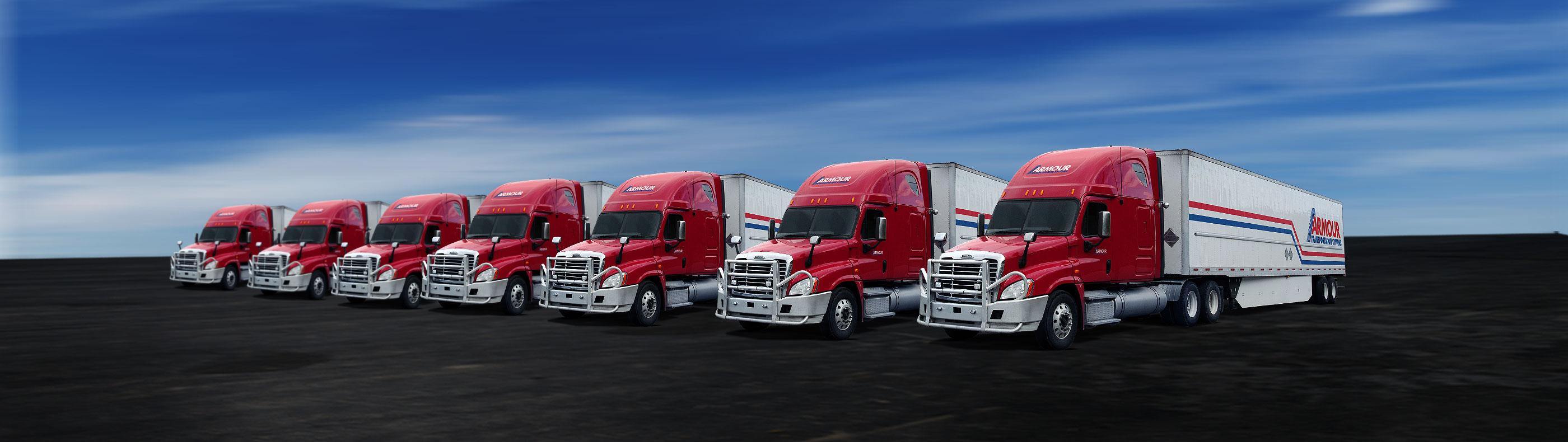 Armour Transportation fleet of trucks