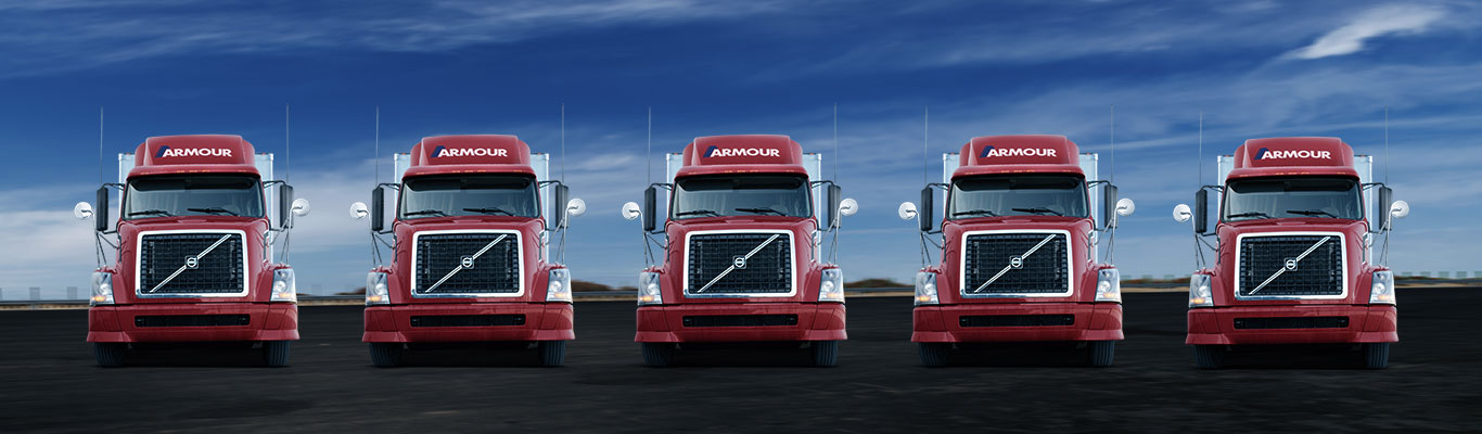 Armour Transportation fleet of trucks